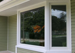 Picture windows add a nice touch to the interior and exterior of your home