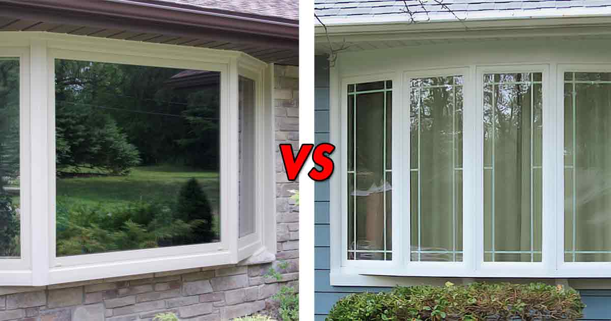 Bay windows vs bow what 39 s the difference for Vinyl bay window