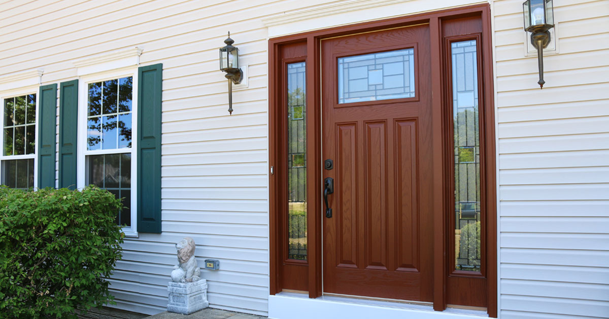 What color should you choose for your entry door for Full window exterior door