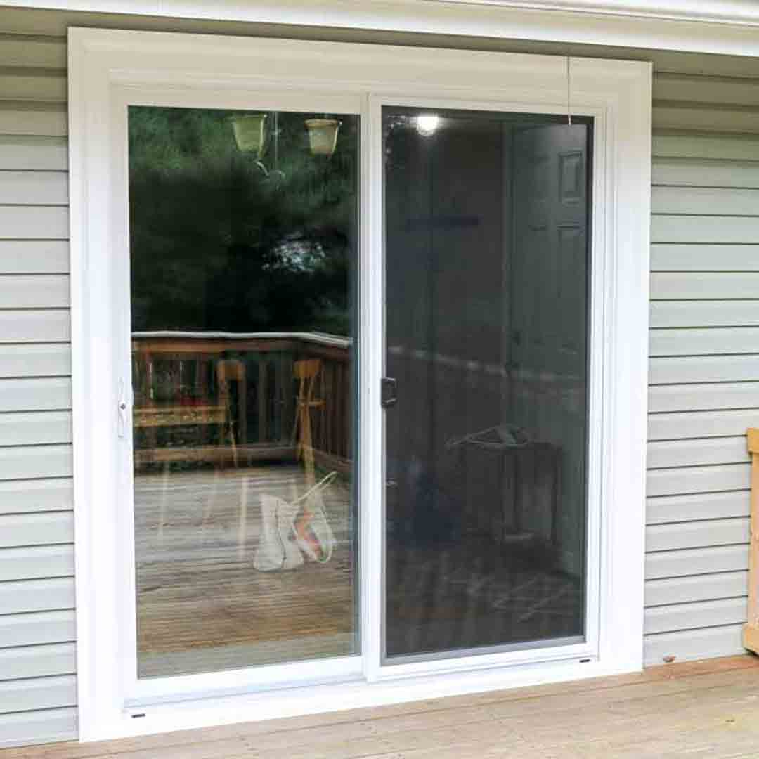 Nami screen doors standard white metal sliding patio for Screen doors for sliding doors home depot